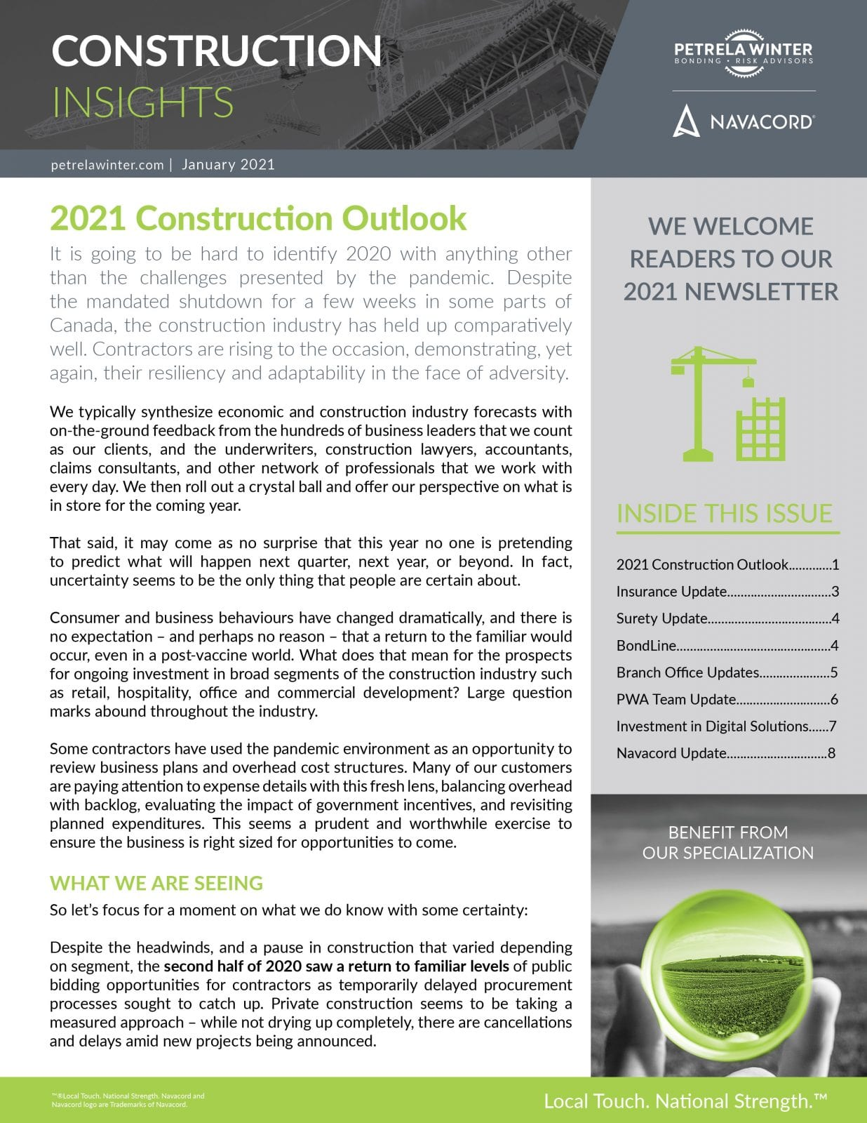 2021 Construction Outlook